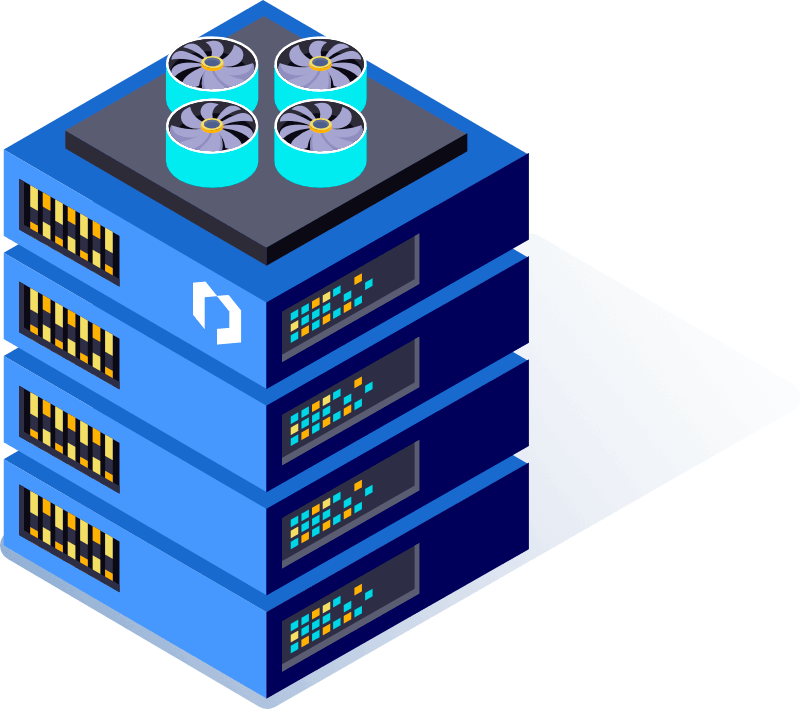 The illustration shows an example of Probility's server.